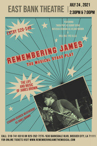 Remembering James- The Life and Music of James Brown Starring Dedrick Weathersby in New Orleans