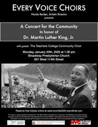 Community Concert in Honor of Dr. Martin Luther King, Jr. in Off-Off-Broadway