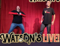 Watson's LIVE! Featuring Improv Insanity & Positive Parkour in Boise Logo