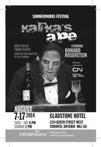 Montreal's Infinithéâtre presents Kafka's Ape as part of SummerWorks in Toronto