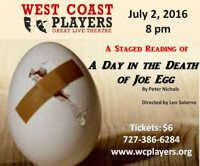 Staged Reading: A Day in the Death of Joe Egg in Tampa
