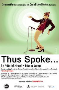 Montreal's Daniel Leveillé danse presents Thus Spoke... as part of SummerWorks in Toronto