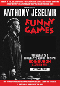 Anthony Jeselnik: 'Funny Games' in Broadway