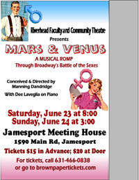 Mars and Venus:  Musical Revue in Rockland / Westchester