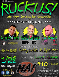 RUCKUS! at HA! Comedy Club in Rockland / Westchester