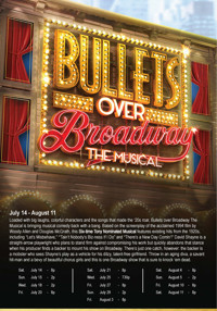 Bullets Over Broadway The Musical at The Noel S. Ruiz Theatr in Long Island