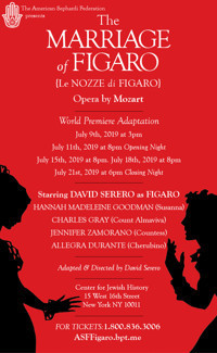 Marriage of Figaro by Mozart in Central New York