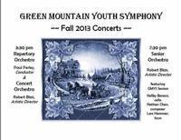 Green Mountain Youth Symphony Winter Concerts in Vermont