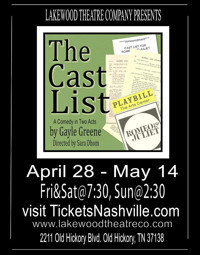 The Cast List: A Comedy in 2 Acts in Nashville