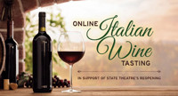 Online Italian Wine Tasting In Support of State Theatre's Reopening in New Jersey