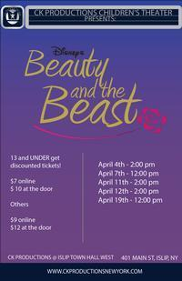 Beauty & the Beast (Presented by CK Productions - Children's Theatre) in Long Island