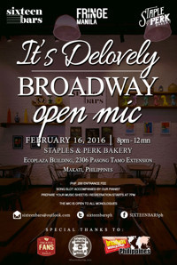 It's De-Lovely: Broadway Open Mic in Philippines