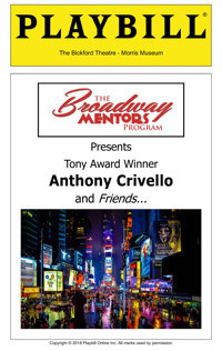 The Broadway Mentors Program Presents Tony Award Winner Anthony Crivello and Friends... in New Jersey