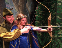 Robin Hood and Maid Marian in Broadway