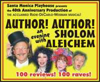 Author! Author! An Evening with Sholom Aleichem in Los Angeles
