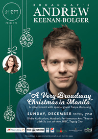 A Very Broadway Christmas Concert with Andrew Keenan-Bolger in Philippines