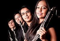 Trumpets, clarinet quartet in Colombia