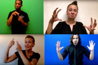 Dixon Place Presents: The Universal Drum: A Dramatic Visual Poem in ASL, English, & Percussion in Broadway