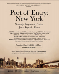 Port of Entry: New York at Carnegie HAll in Central New York