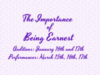 The Importance of Being Earnest in Central Pennsylvania