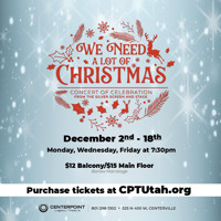 We Need A Lot Of Christmas, Concert of Celebration from the Silver Screen and Stage in Salt Lake City