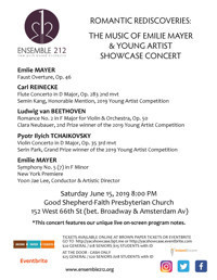 Romantic Rediscoveries: The Music of Emilie Mayer & Young Artist Showcase Concert in Off-Off-Broadway