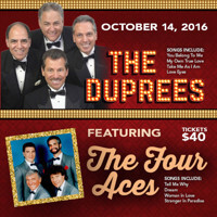 The Four Aces with The Duprees in New Jersey