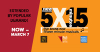 5x15: Five World Premiere 15-Minute Musicals in Cleveland