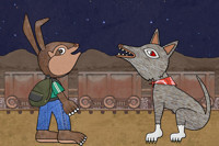 Pancho Rabbit and the Coyote in Austin