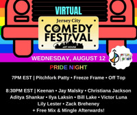 Virtual Jersey City Comedy Festival: PRIDE NIGHT in New Jersey Logo