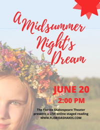 Live Staged Reading of A Midsummer Night's Dream in Miami