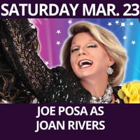 Joe Posa as Joan Rivers in Off-Off-Broadway