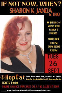 If Not Now, When? A Musical Evening with Sharon K. Janda & Trio in Detroit