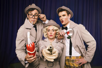 Dumtectives in Cirque Noir in Off-Off-Broadway Logo