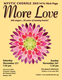 Mystic Chorale sings MORE LOVE 11/23 & 11/24! in Boston