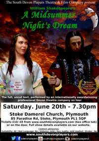 Shakespeare's A Midsummer Night's Dream - Plymouth in UK Regional