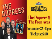 An Evening with The Duprees & The 4 Aces in NEW JERSEY