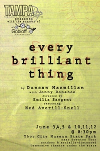 Every Brilliant Thing in Tampa/St. Petersburg