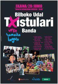 "The municipal band of ""txistularis"" (Basque flute) of Bilbao in Spain"