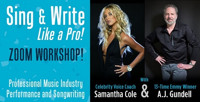 Sing and Write Like a Pro - Zoom Workshop in Connecticut