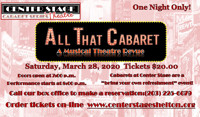 All That Cabaret: A Musical Theatre Revue in Connecticut