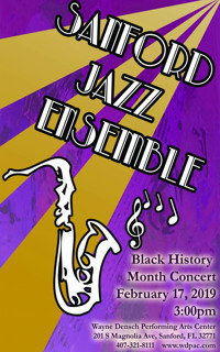 Sanford Jazz Ensemble: Black History Concert in Miami