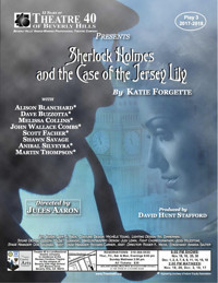 Sherlock Holmes and the Case of the Jersey Lily in Broadway