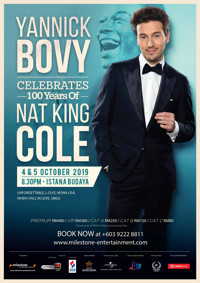 YANNICK BOVY CELEBRATES 100 YEARS OF NAT KING COLE in Malaysia