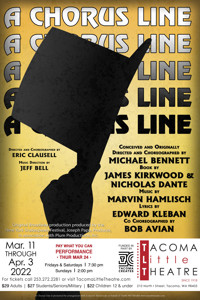 A CHORUS LINE at Tacoma Little Theatre in Seattle