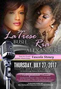 Latrese Bush & Ria Alexander Live with special guest spoken word artist Vascola Stoney in Other New York Stages