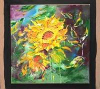 Sunflowers by Jake Goh Art Exhibitition in Malaysia