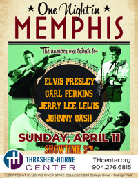 ONE NIGHT IN MEMPHIS in Jacksonville