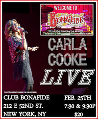 Carla Cooke LIVE at Club Bonafide in Broadway