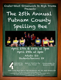 EWG Sr High Drama Club Presents: The 25th Annual Putnam County Spelling Bee in Broadway